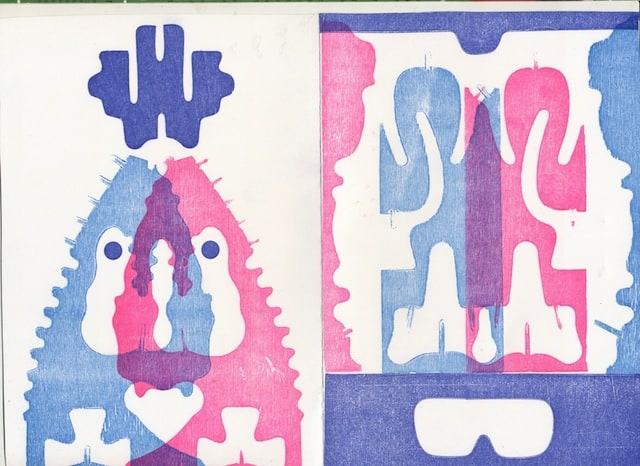 Monoprint vis