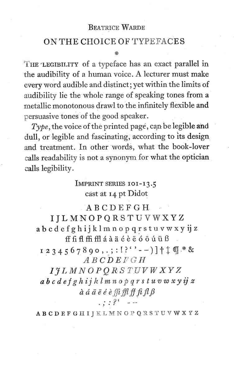Letterproef Imprint